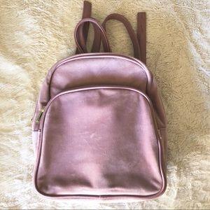 Handbags - Super cute Pink Velvet Backpack